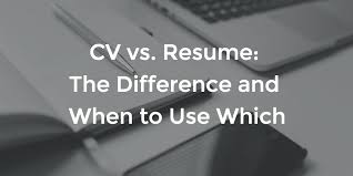 What is the Difference between Resume and CV